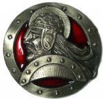 Viking Warrior Belt Buckle with display stand. Code ZV5